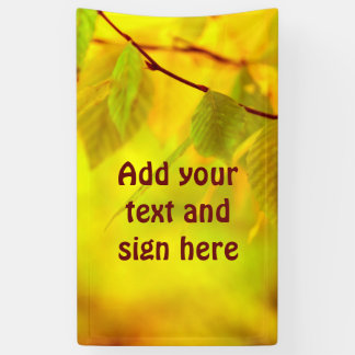 Photography - autumn beech leaves + your ideas banner