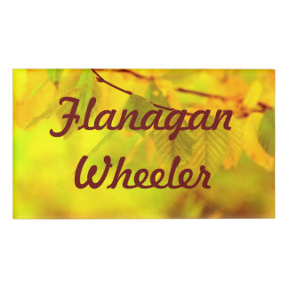 Photography - autumn beech leaves + your ideas name tag