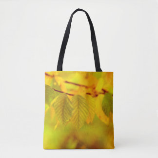 Photography - autumn beech leaves + your ideas tote bag