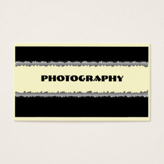 Photography beige black shredded custom cards