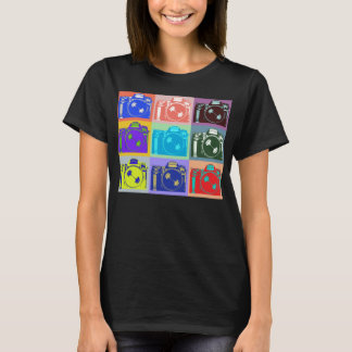 Photography Buff Style Camera Design T-Shirt
