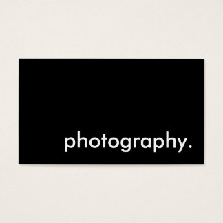 photography, business card