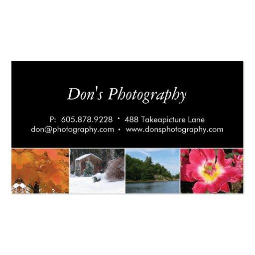 Photography Business Card 4 Seasons