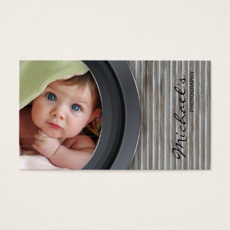 Photography Business Card Metal Fence Garage