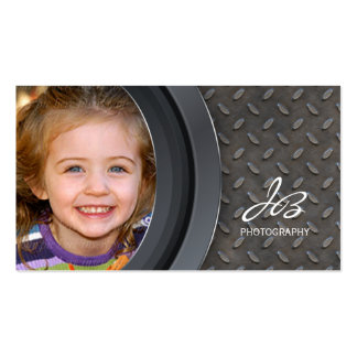 Photography Business Card Metal Rivets