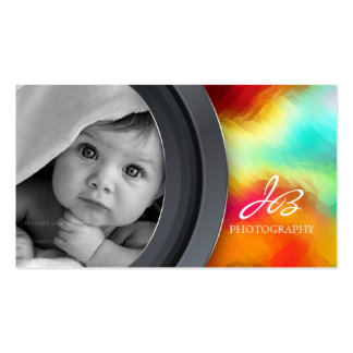 Photography Business Card Photo Bold Turquoise