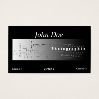 Photography Business card - white stripe