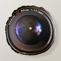 Photography camera lens round pillow