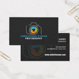 Photography Camera Shutter Green Orange Blue Gray Business Card
