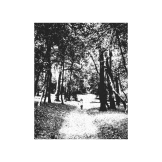 Photography canvas ghostly girl figure in forest