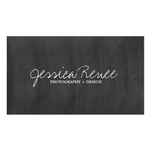 Photography | Chalboard Business Cards