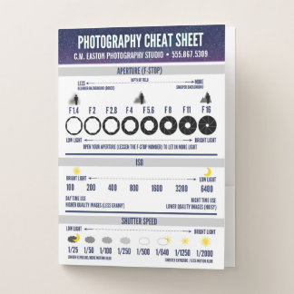 Photography Cheat Sheet | Custom Pocket Folder