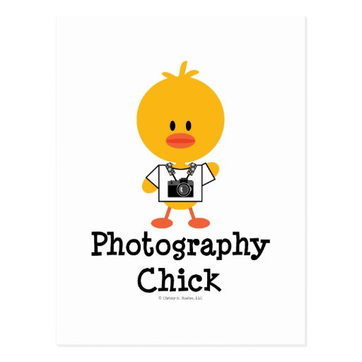 Photography Chick Postcard