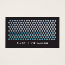 PHOTOGRAPHY CIRCLES PATTERN in BLACK (Horizontal) Business Card