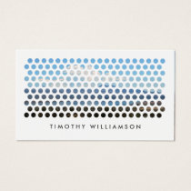PHOTOGRAPHY CIRCLES PATTERN in WHITE (Horizontal) Business Card