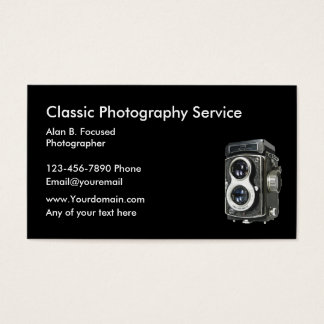 Photography Classic Business Cards