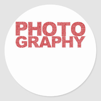 Photography Classic Round Sticker