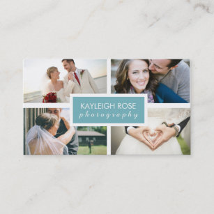 Photo collage business cards templates zazzle photography collage business card colourmoves