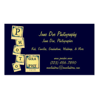 Photography Collage Business Card Template
