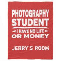 Photography College Major No Life or Money Fleece Blanket
