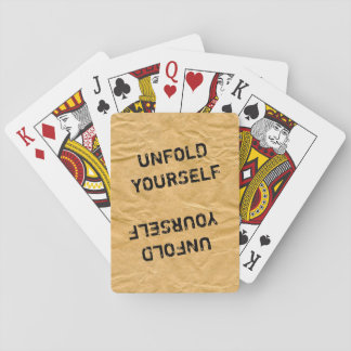 Photography - Crinkly Wrapping Paper + your ideas Playing Cards