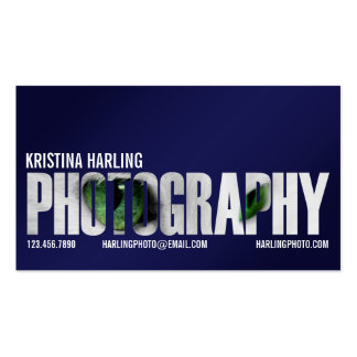 Photography Cutout - Blue Double-Sided Standard Business Cards (Pack Of 100)
