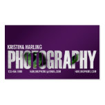 Photography Cutout - Purple Business Card Template