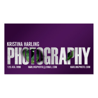 Photography Cutout - Purple Double-Sided Standard Business Cards (Pack Of 100)
