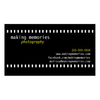 Photography Double-Sided Standard Business Cards (Pack Of 100)
