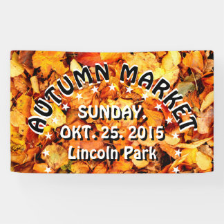 Photography - dry autumn leaves + your ideas banner