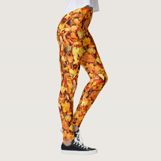Photography - DRY AUTUMN LEAVES + your ideas Leggings