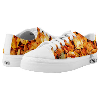Photography - dry autumn leaves + your ideas printed shoes