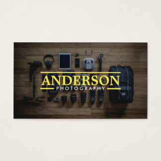Photography Equipment Modern Photographer Business Card