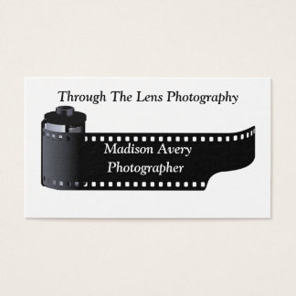 Photography Film Roll Photographer Appointment Business Card