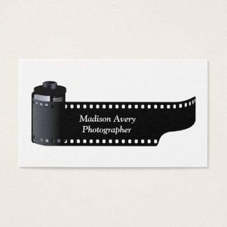 Photography Film Roll Photographer Minimal Business Card