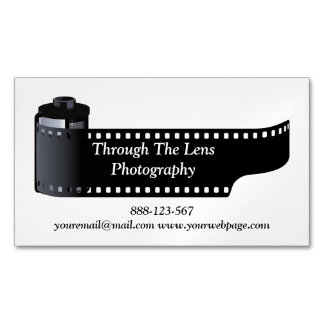 Photography Film Roll Photographer Minimal Business Card Magnet