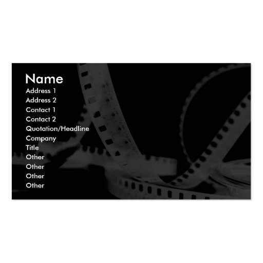 Photography, Flim, Entertainment Business Cards
