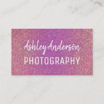 Photography Glitter Sparkle Feminine Business Card