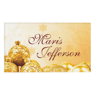 Photography - golden xmas balls + your ideas name tag