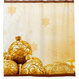 Photography - golden xmas balls + your ideas shower curtain