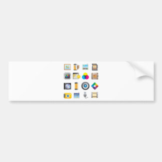 Photography Icon Bumper Sticker