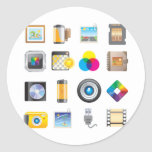 Photography Icon Classic Round Sticker