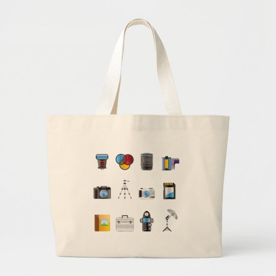 Photography Icon Large Tote Bag