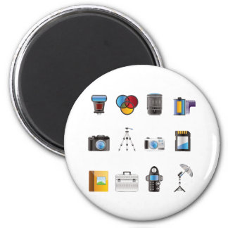 Photography Icon 2 Inch Round Magnet