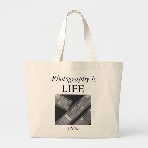 'Photography is LIFE' hand bag