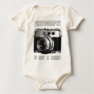 Photography is not a crime. baby bodysuit