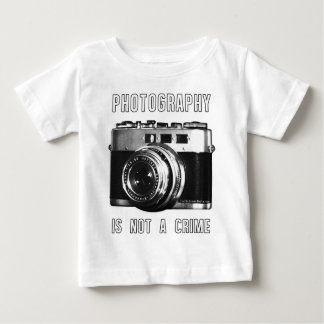 Photography is not a crime. baby T-Shirt