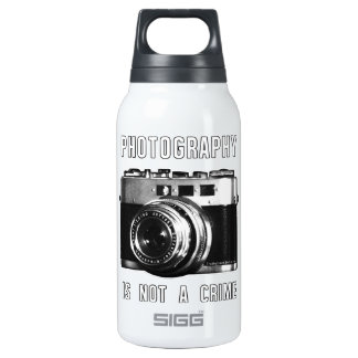 Photography is not a crime. insulated water bottle