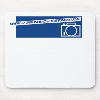 Photography is not a crime mouse pad