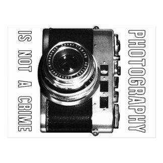 Photography is not a crime. postcard